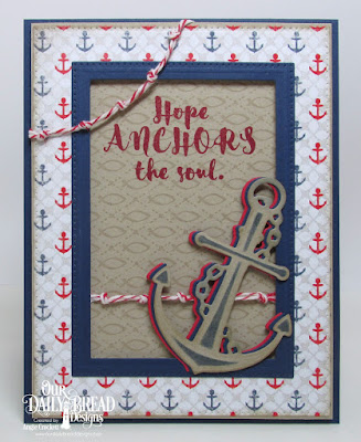 Our Daily Bread Designs Stamp/Die Duos: You Anchor Me, Our Daily Bread Designs Stamp Set: Fish Background, Our Daily Bread Designs Custom Dies: Pierced Rectangles