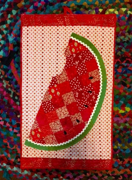 The HEXIE Blog: Tah....DONE! The Watermelon Quilt! : watermelon quilt - Adamdwight.com