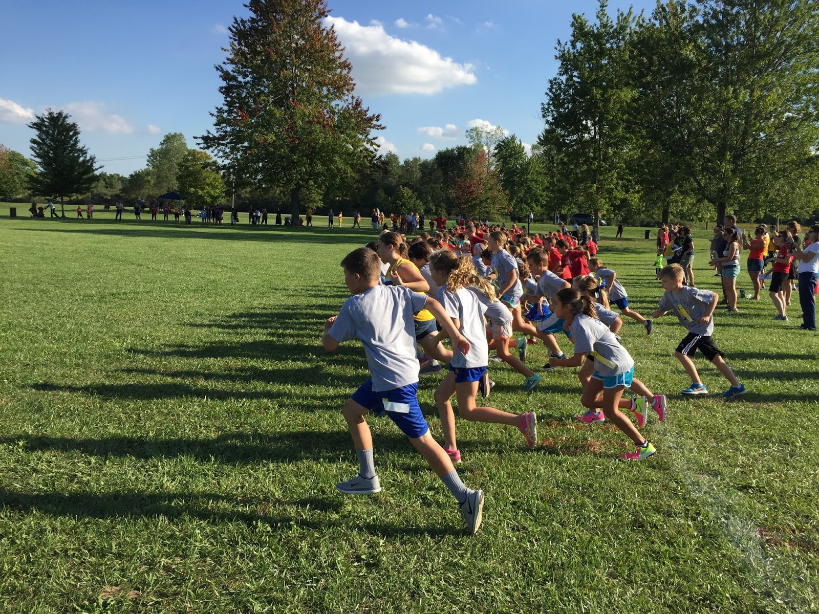 Coaching kids cross country
