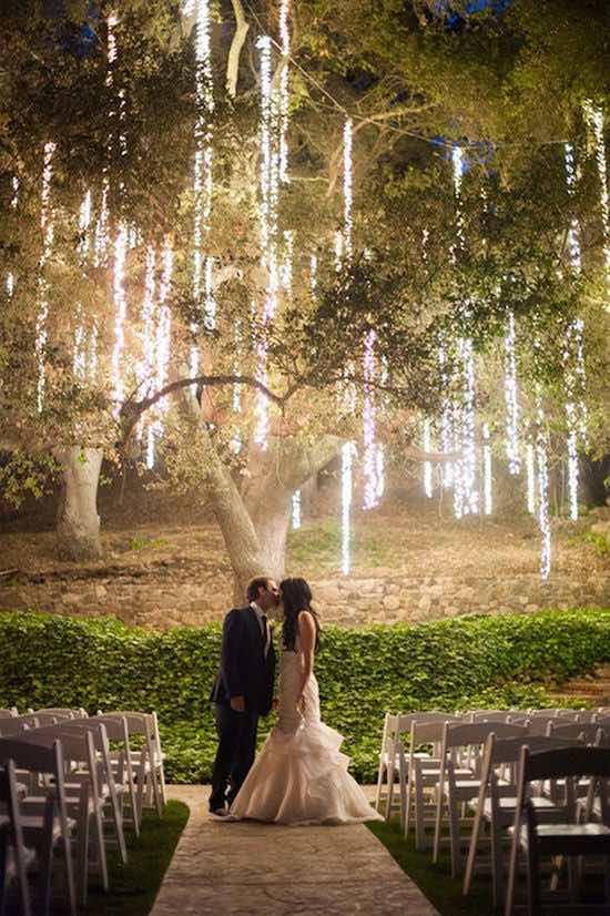 luces colgantes boda