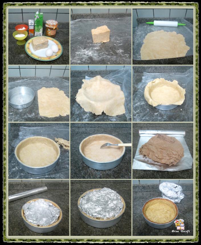 Torta de pêssegos com creme 3