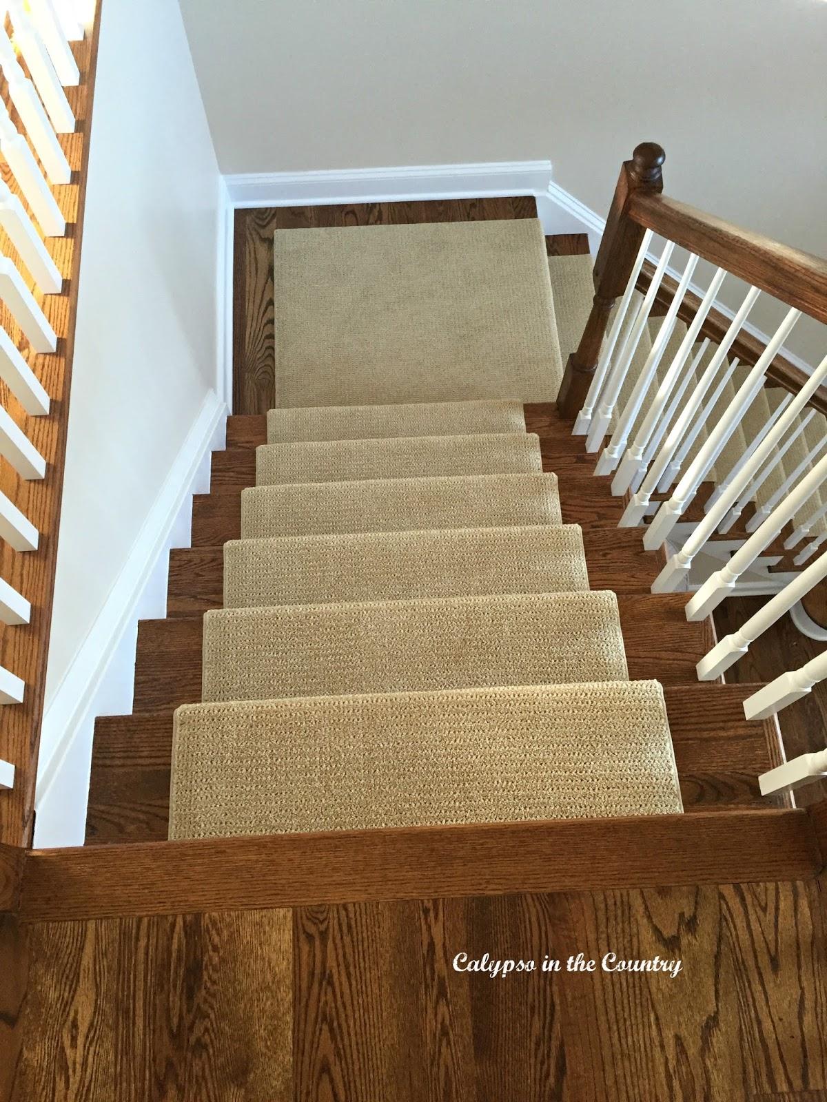 Sisal Look runner on stairs