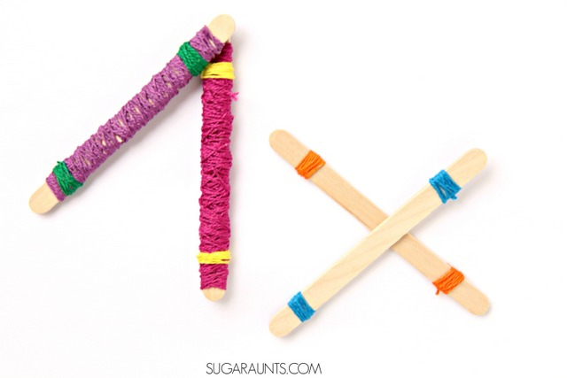 DIY rhythm sticks and activities for preschool aged kids