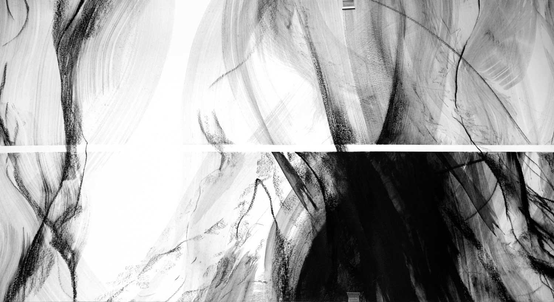 Annik Reymond - fusain 40 cm x 17 mètres, détail 2
