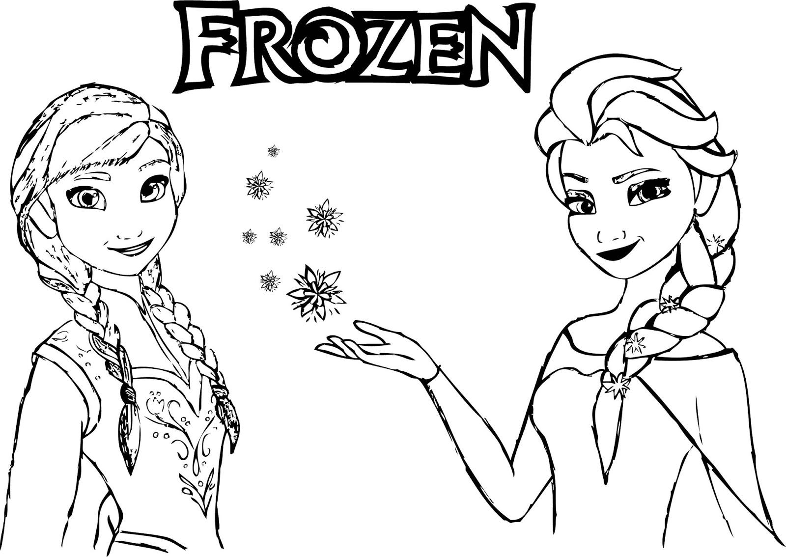 elsa and anna coloring pages to print - aprende brincando frozen colorir a anna e a elsa