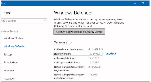 Microsoft Telah Memperbaiki Kerentanan Kritis pada Windows Defender