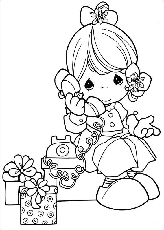 Precious Moments Girl Coloring ~ Child Coloring