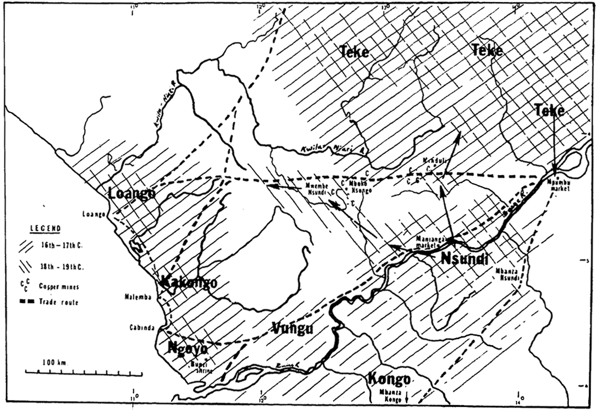 political and economic map of the activity area of lemba societies 1600 1930
