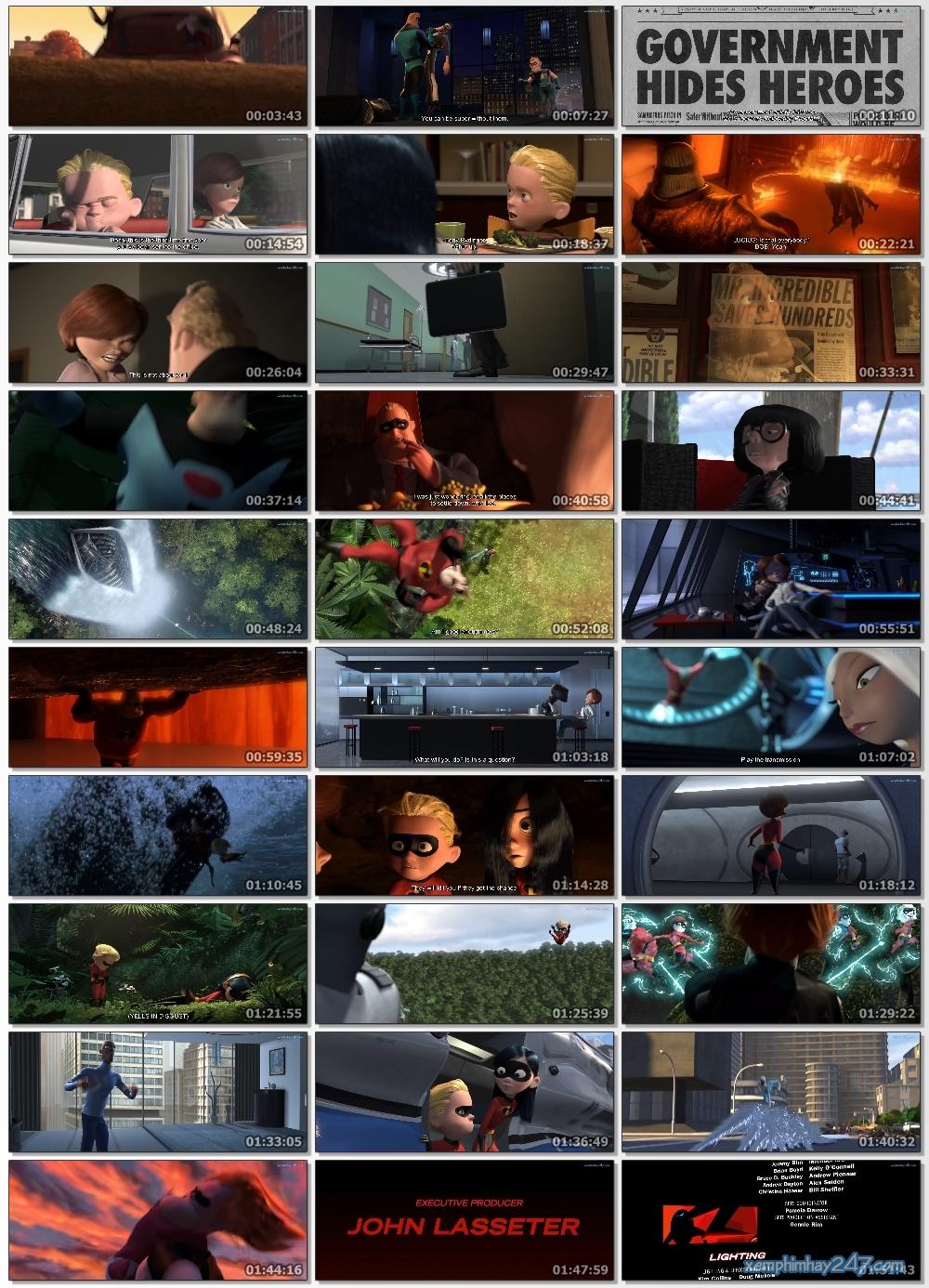 http://xemphimhay247.com - Xem phim hay 247 - Gia Đình Siêu Nhân (2004) - The Incredibles (2004)