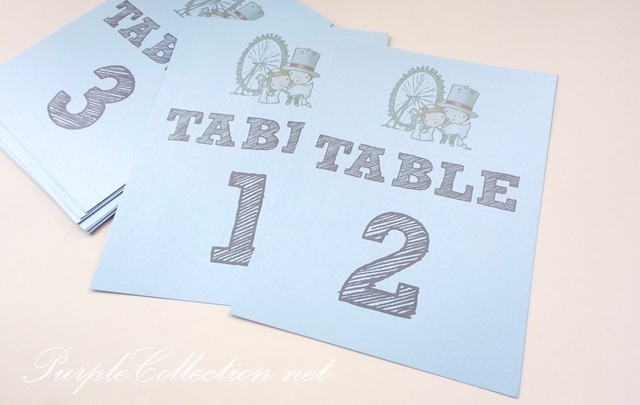 Table Number Print Ferris Wheel (Blue theme), printing, simple, cetak, murah, affordable, wedding day, elegant, cute, comic, cartoon, couple, playful, card, USA, canada, australia, melbourne, louisiana secret restaurant, fair, sunway convention centre, bespoke, custom made, personalised, personalized, handmade, hand crafted