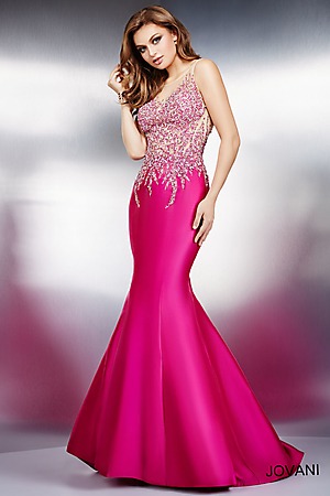 Special Occasion Fuchsia Pink Prom Dress | bridal wedding and prom ideas