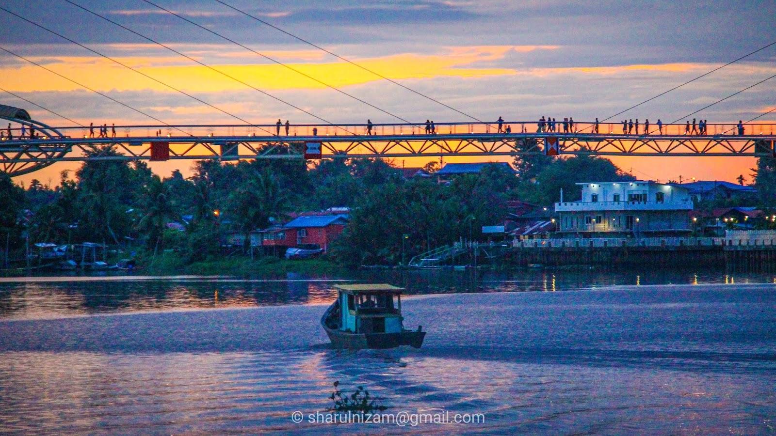Jambatan Darul Hanah waktu senja