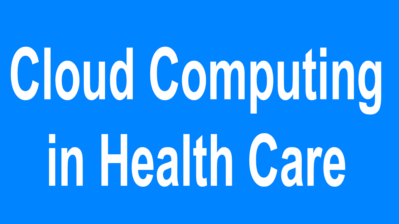 cloud computing for the health industry The top 4 trends in healthcare cloud computing – 2018  form of cloud  platform, making the healthcare business ahead of industry trends.