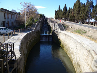 Esclusa en cascada. Canal du Midi