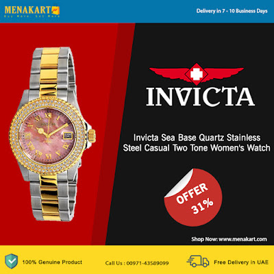 Invicta Sea Base Quartz Stainless Steel Casual Two Tone Women's Watch 20367