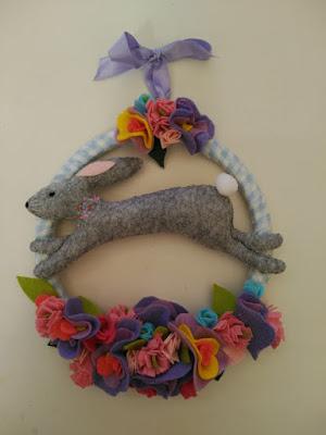 fieltro, felt, feutrine, garlande, guirnalda, wreath, primavera, spring, printemps