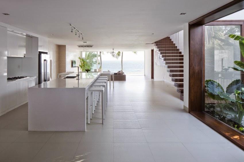 Hogares frescos villas oceaniques con un dise o interior - Diseno interior minimalista ...