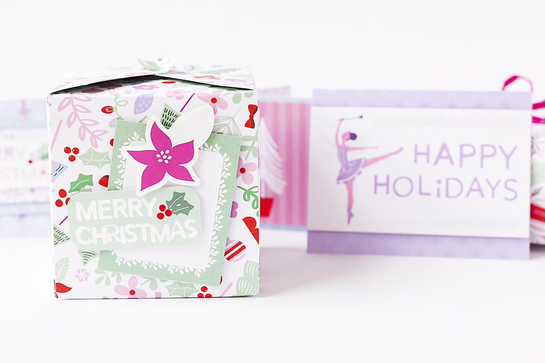 Xmas Gift Box with Magical Holidays @SandraDietrich for @DCWV