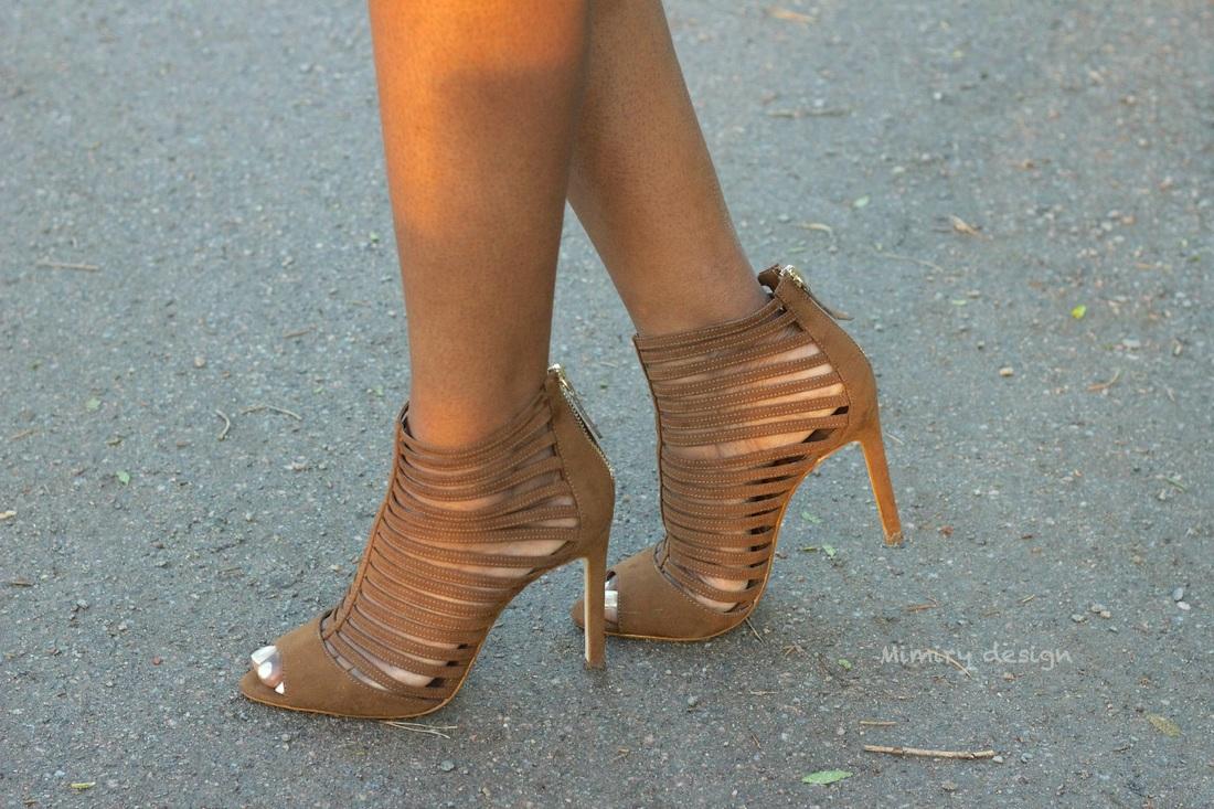 a pair of dark brown Zara heels