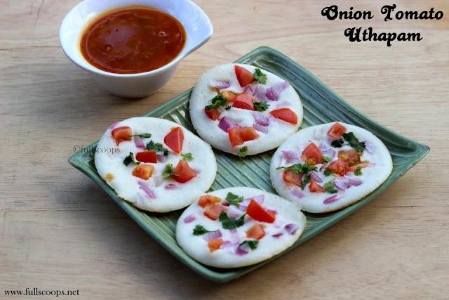 Onion Tomato Uthapam