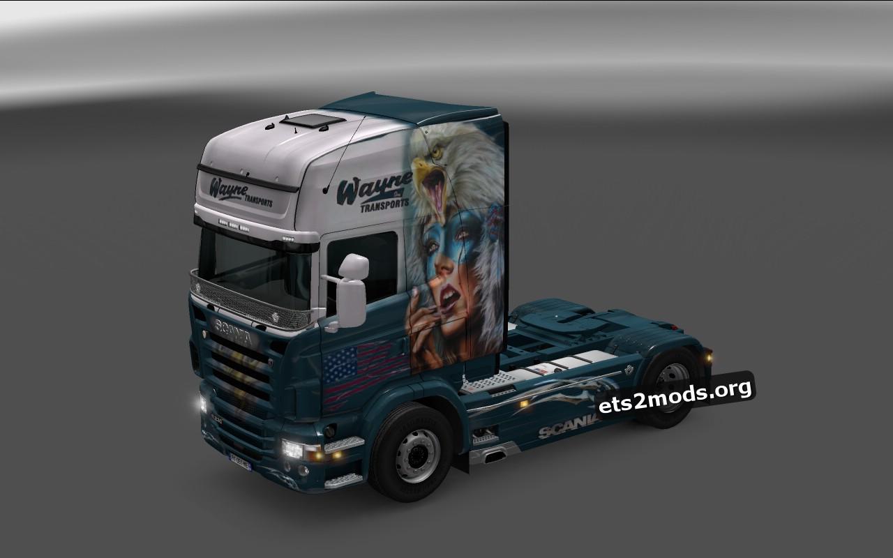 Scania RJL Wayne Transporte Skin