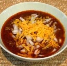 my award winning chili in a bowl