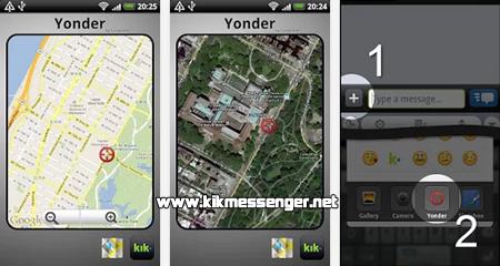 Indica a tus contactos tu ubicación con Yonder Locations for Kik