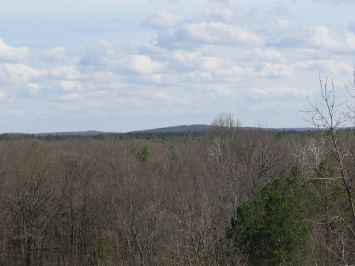 view of Briar Hill from the North Country Trail