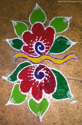 colorful Flower Rangolis