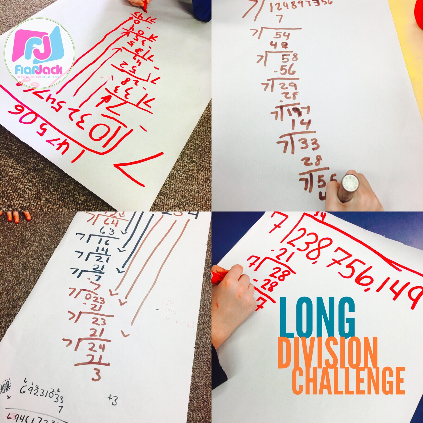 Fun Long Division Challenge Activity Low Prep