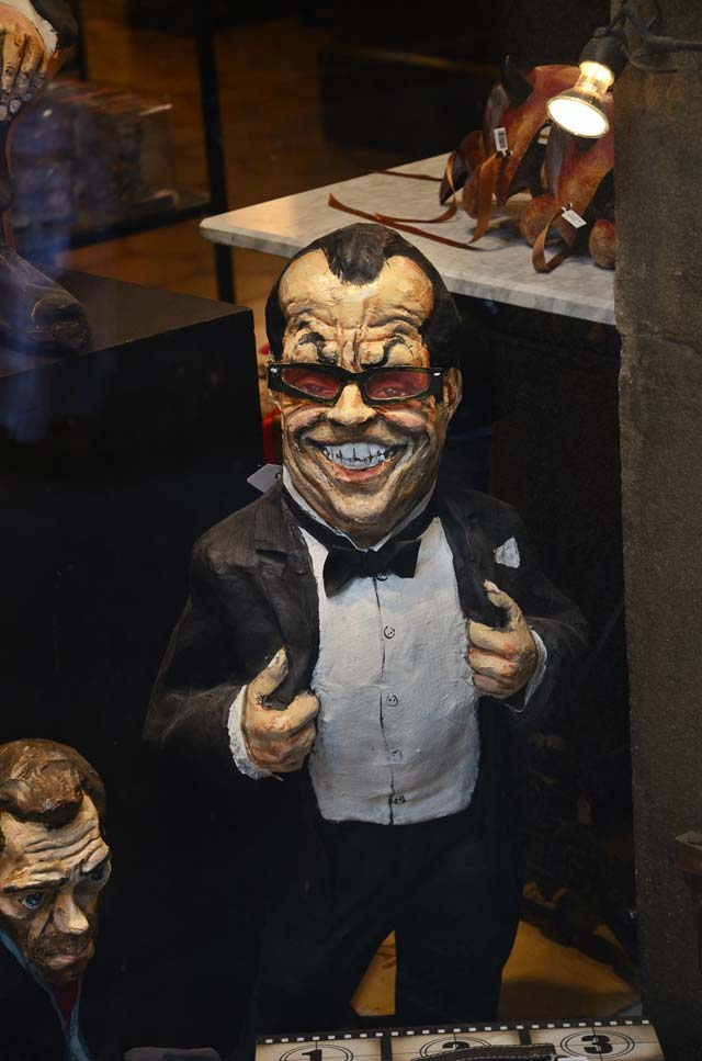 Jack Nicholson in Paper Mache at Barcelona Shop