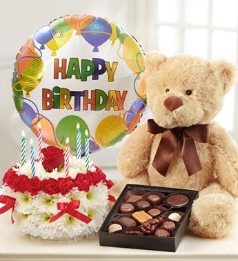 Sweet Happy Birthday Teddy Bear Image for Whatsapp DP