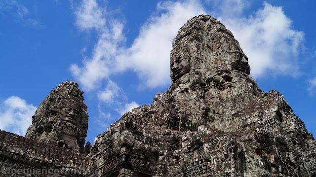 templo, caras, bayon, camboya, siem riep
