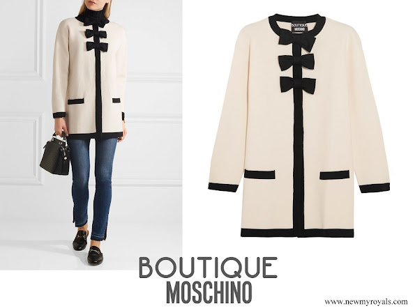 Kate Middleton wore Boutique Moschino Bow-embellished wool and cotton-blend jacket