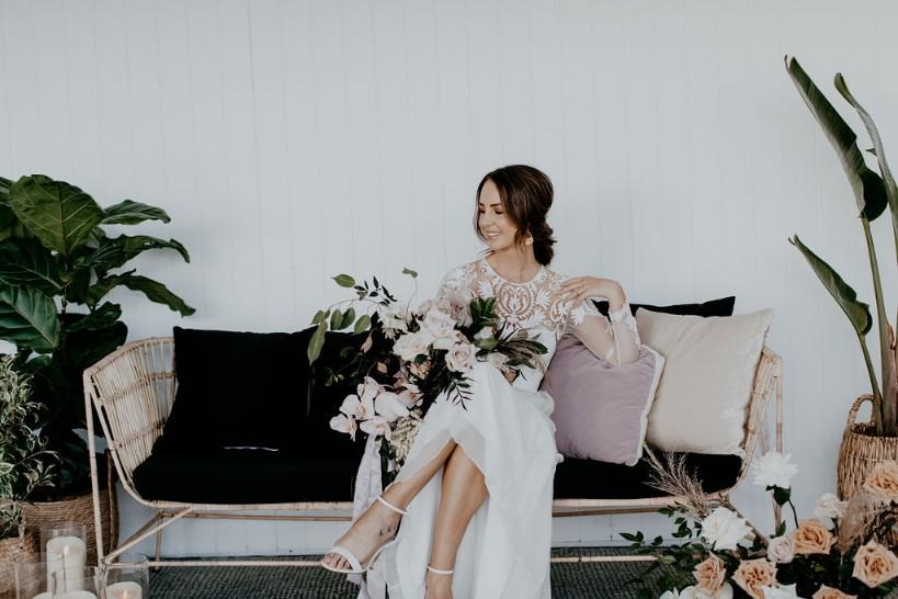 WEDDING VENUE WATERFRONT TWEED HEADS FLORALS WEDDING GOWN AUSTRALIAN DESIGNER