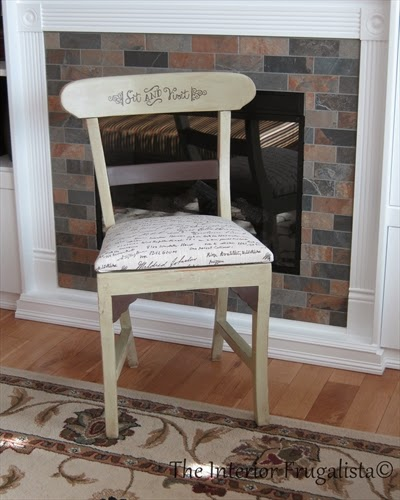 Giving a chair a makeover for my Mom's birthday