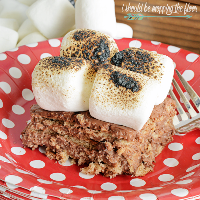 Ten-Minute Layered S'mores Summer Icebox Cake | Easy & Fast No-Bake Cake With All of the Flavors of the Classic S'More!