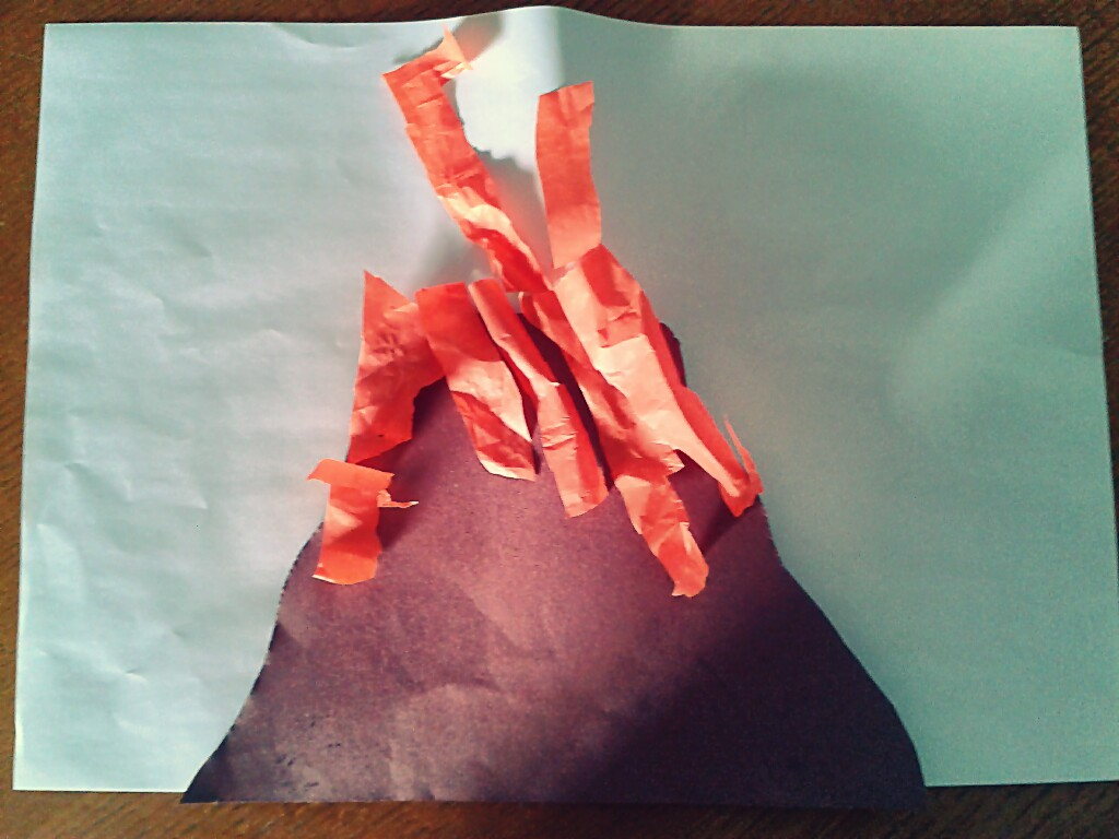 How To Make A Volcano From Construction Paper