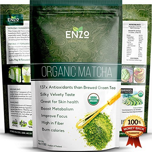Enzo Organic Matcha Ceremonial Grade Green Tea Powder