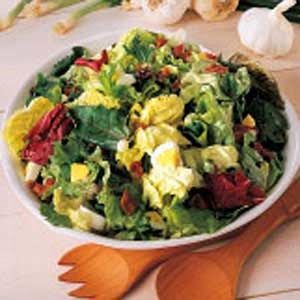 RecipeReview Lettuce with Hot Bacon Dressing