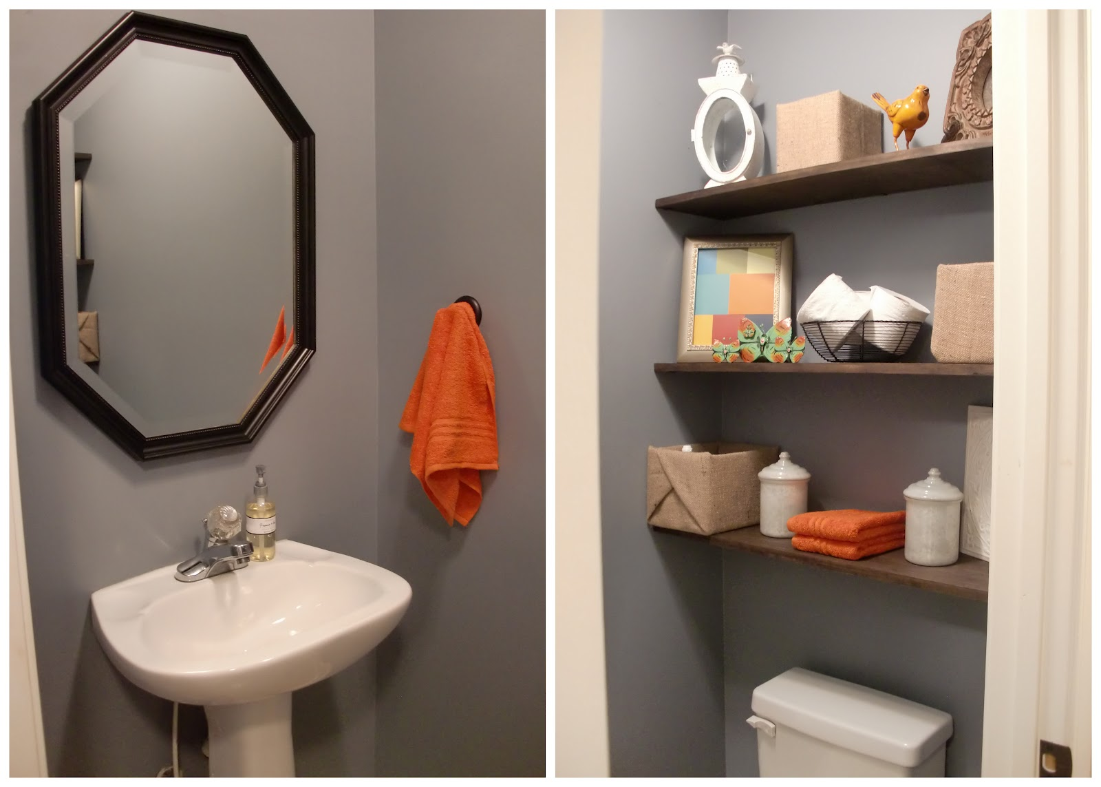 Half Bath Shelves (19 Image) | Wall Shelves
