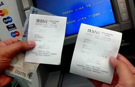 Solusi Struk Bukti Transaksi di Mesin ATM BNI Tidak Keluar