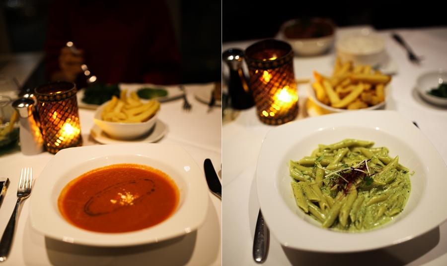 DINNER BISTRO 51 taj hotel soup