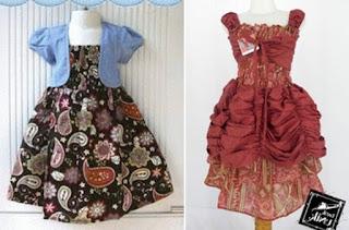 Batik kombinasi anak perempuan untuk pesta