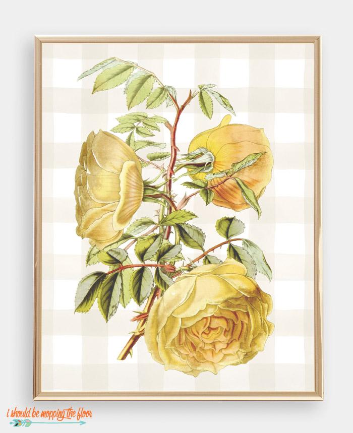 Yellow Flower Printable