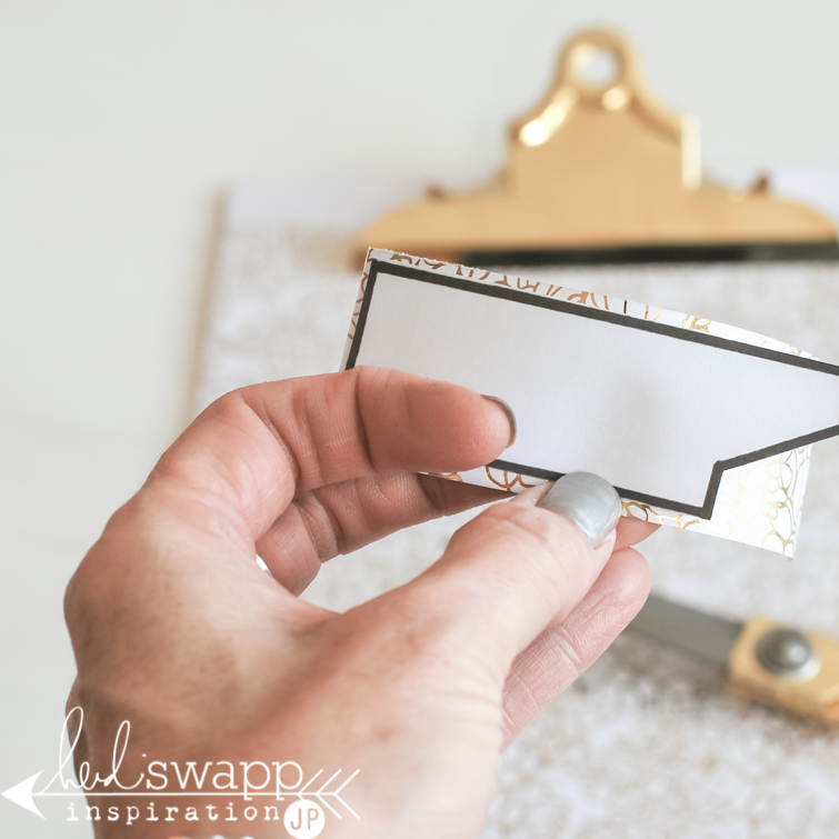 Heidi Swapp Gallery Wall Tutorial: How to cover gallery clipboard with pattern paper.   @jamiepate for @heidiswapp