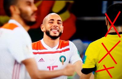 mauvaise évaluation aux arbitres de la coupe du monde 2018 envers les Musulmans التقييم السيئ لحكام كأس العالم 2018 ضد المسلمين