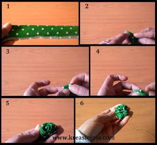 Tutorial membuat kuncup mawar dari kain part 1