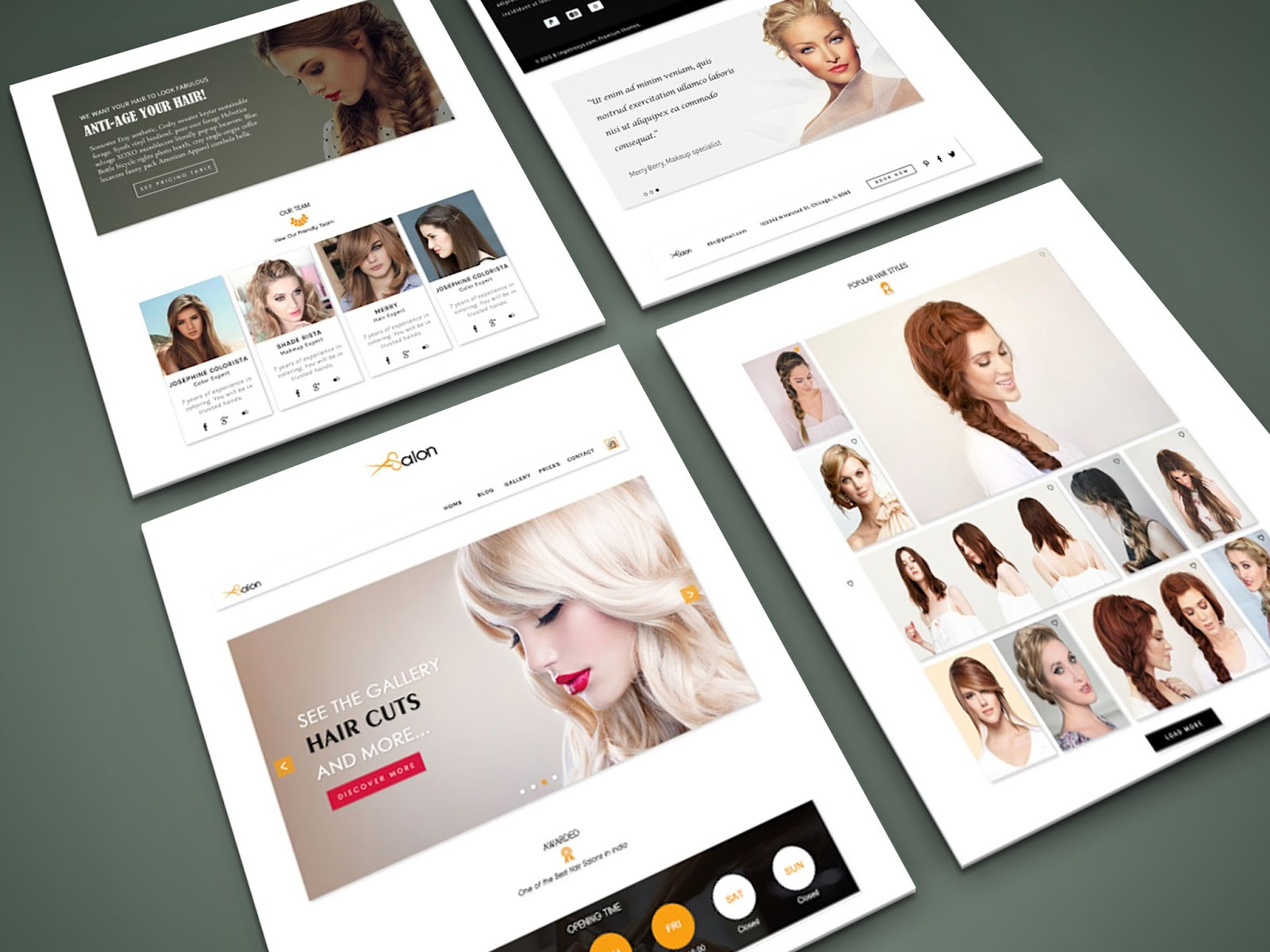 Beauty Salon Website Template Design Idea