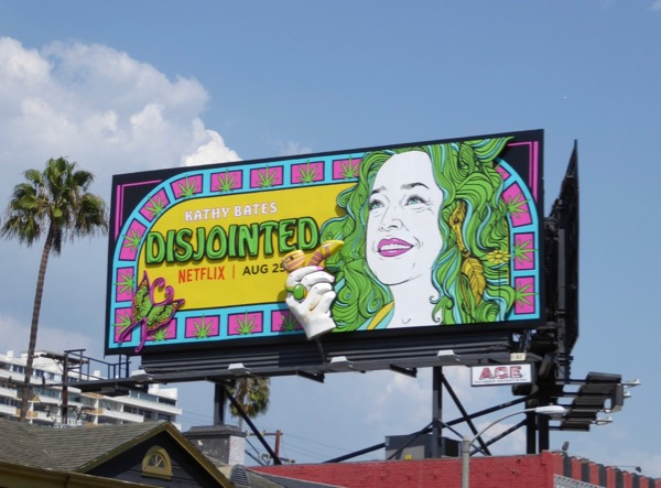 Disjointed moving hand billboard installation